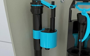 Skylo Dual Entry 4 in 1 Fill Valve Installation